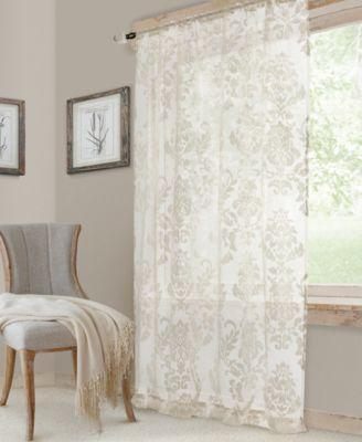 "Valentina 52"" x 84"" Sheer Jacquard Rod Pocket Curtain Panel"