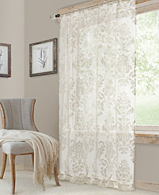 "Elrene Valentina 52"" x 95"" Sheer Jacquard Rod Pocket Curtain Panel"