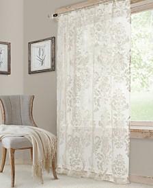 Elrene Valentina Sheer Jacquard Rod Pocket Curtain Panels