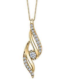 "Sirena Diamond Twist 18"" Pendant Necklace (1/4 ct. t.w.)"
