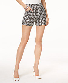 I.N.C. Printed Jacquard Pull-On Shorts, Created for Macy's
