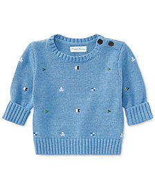 Ralph Lauren Embroidered Cotton Sweater, Baby Boys