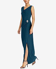Lauren Ralph Lauren Jersey Cowl Neck Gown