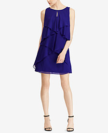 Lauren Ralph Lauren Ruffled Georgette Dress, Created for Macy's