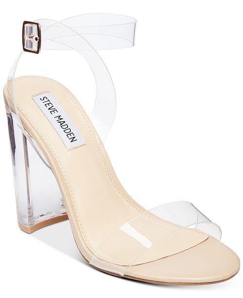7c121fcc087 Steve Madden Women s Camille Lucite Dress Sandals   Reviews ...