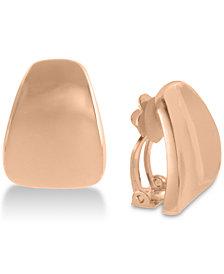 Robert Lee Morris Soho Rose Gold-Tone Wide Wedge Clip-On Drop Earrings