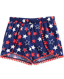 Epic Threads Toddler Girls Printed Pom Pom-Trim Shorts, Created for Macy's