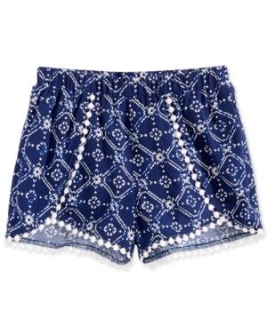 Epic Threads Little Girls Printed Pom PomTrim Shorts Created for Macys