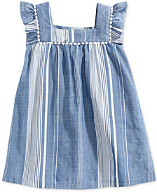 Epic Threads Little Girls Striped Peasant Dress, Created for Macy's