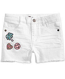 Epic Threads Little Girls Frayed-Hem Patch Shorts, Created for Macy's