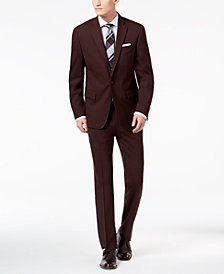Ryan Seacrest Distinction™ Men's Slim-Fit Stretch Burgundy Solid Suit Separates, Created for Macy's