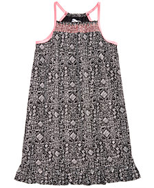 Epic Threads Big Girls Flamingo-Print Smocked Dress, Created for Macy's