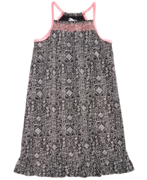 Epic Threads Big Girls FlamingoPrint Smocked Dress Created for Macys