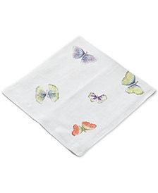 Michael Aram Butterfly Ginkgo Printed Linen Dinner Napkin