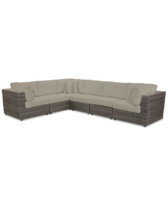 Viewport Outdoor 6-Pc. Modular Seating Set (3 Corner Units and 3 Armless Units) with Sunbrella® Cushions, Created for Macy's