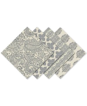 Elrene Assorted Gray Print Cotton Napkins, Set of 24 6199356