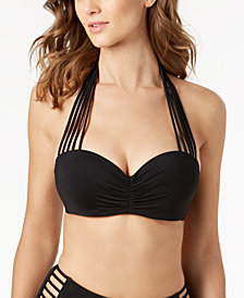 Coco Reef Bra-Sized Convertible Underwire Strappy Bikini Top