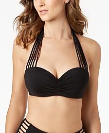 Coco Reef Bra-Sized Convertible Underwire Strappy Bikini Top