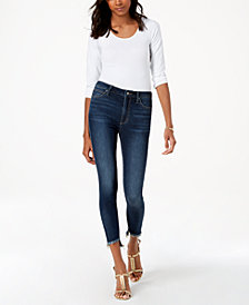 Joe's The Charlie High-Rise Step-Hem Skinny Jeans
