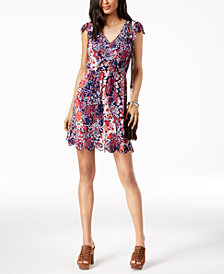 MICHAEL Michael Kors Printed Scalloped-Edge Dress in Regular & Petite Sizes