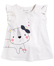 First Impressions Baby Girls Safari Graphic-Print Cotton Top, Created for Macy's