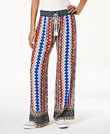 Be Bop Juniors' Printed Wide-Leg Pants