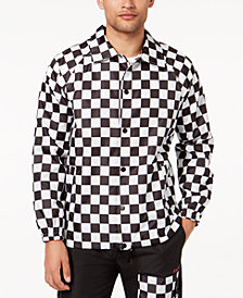 DOPE Men's Finish Line Checkered Coaches Jacket