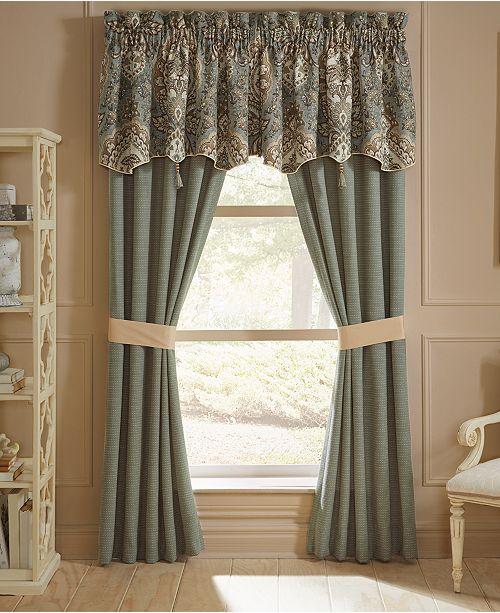 """Croscill Rea 54"""" x 19"""" Canopy Window Valance"""