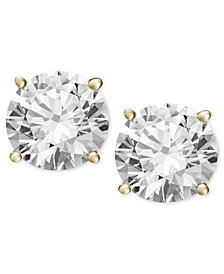 Diamond Stud Earrings (1/2 ct. t.w.) in 14k White Gold or Gold