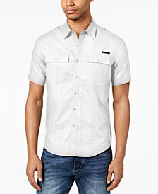 Men's Dual Pocket Linen Shirt, Created for Macy's