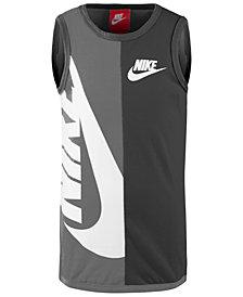 Nike Little Boys Colorblocked Logo-Print Cotton Tank