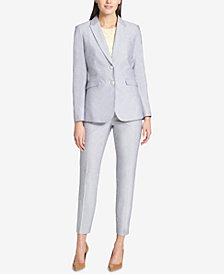 Tommy Hilfiger Two-Button Blazer & Slim-Leg Pants