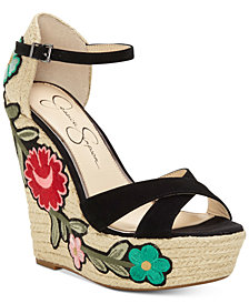Jessica Simpson Apella Patch Wedge Sandals