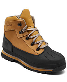 Timberland Big Boys' Euro Hiker Shell Toe Boots from Finish Line