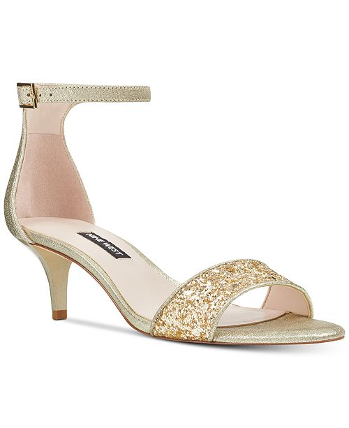 Nine West Leisa Two Piece Kitten Heel Sandals