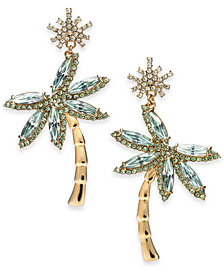 kate spade new york 14k Gold-Plated Palm Tree Drop Earrings