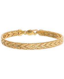 Giani Bernini Riccio Chevron Link Bracelet in 18k Gold-Plated Sterling Silver, Created for Macy's