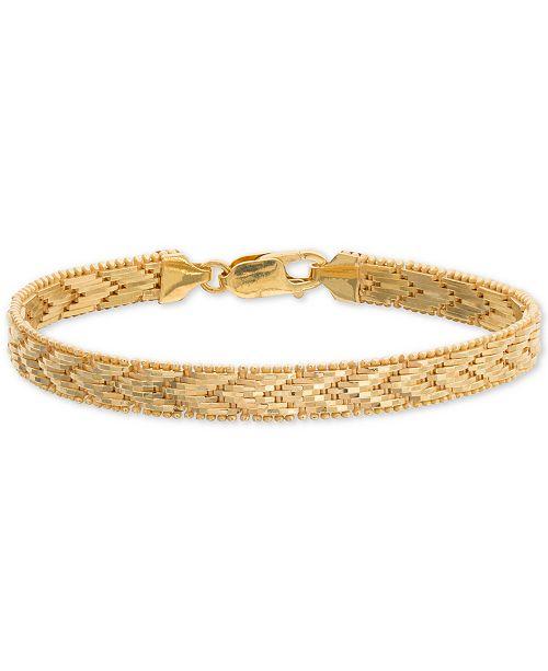 Giani Bernini Riccio Chevron Link Bracelet in 18k Gold-Plated Sterling Silver, Created for Macy's