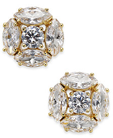 kate spade new york Gold-Tone Crystal Cluster Stud Earrings