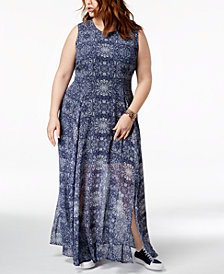 Tommy Hilfiger Plus Size Printed Maxi Dress