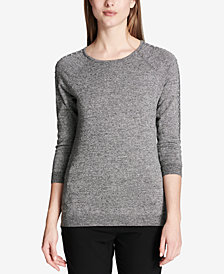 Calvin Klein Studded 3/4-Sleeve Sweater