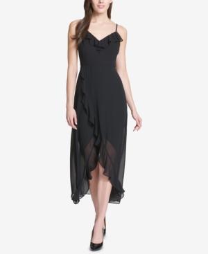 kensie Ruffled Tulip-Hem Maxi Dress