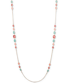 "Nine West Multi-Stone Long 42"" Statement Necklace"