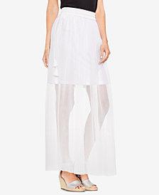 Vince Camuto Sheer Tassel-Detail Maxi Skirt