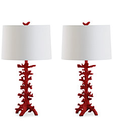 Safavieh Set of 2 Romilly Coral Table Lamp