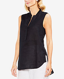 Vince Camuto Sleeveless Linen Shirt