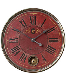 "Uttermost Regency Villa Tesio 23"" Red Wall Clock"
