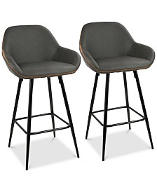 Clubhouse Counter Stool (Set of 2), Quick Ship