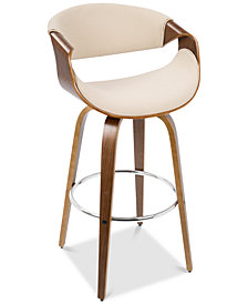 Curvini Swivel Barstool, Quick Ship