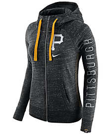 Nike Women's Pittsburgh Pirates Gym Vintage Full Zip Hooded Sweatshirt